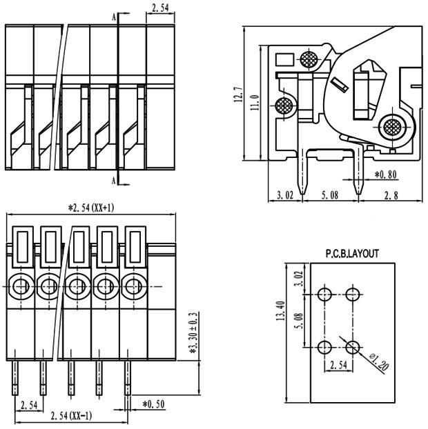 Interconnects :: Terminals/Blocks/Barrier :: Spring
