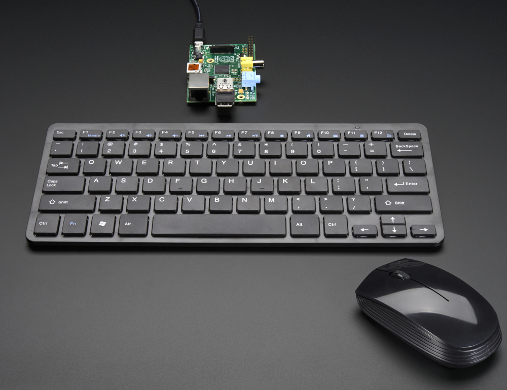 1738 Ada Wireless Keyboard And Mouse Combo W Batteries