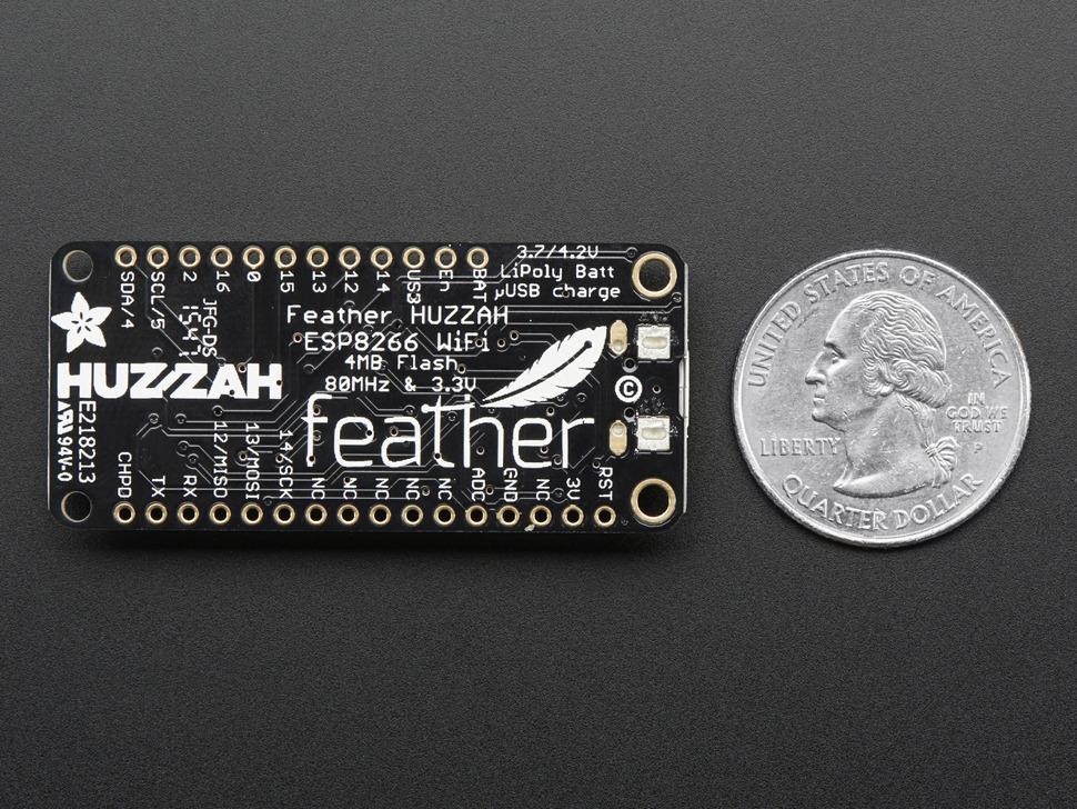 2821-ADA Adafruit Feather HUZZAH with ESP8266 WiFi
