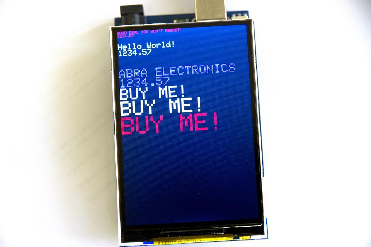 ARD-LCD-3 5 Color TFT LCD Display 3 5 inch for Arduino with MicroSD Slot