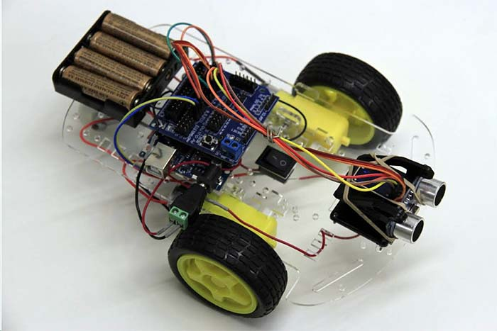 Smart car robot educational kit with arduino uno and