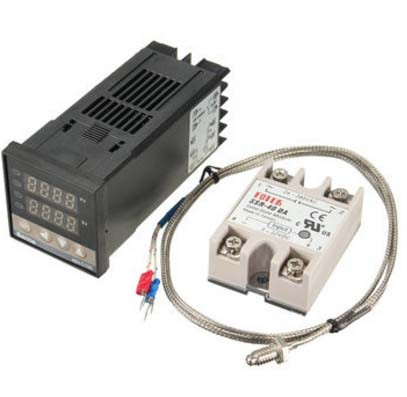SENS-TC-KIT Digital Temperature PID Controller Kit with 40A SSR Relay and K  Thermocouple Sensor