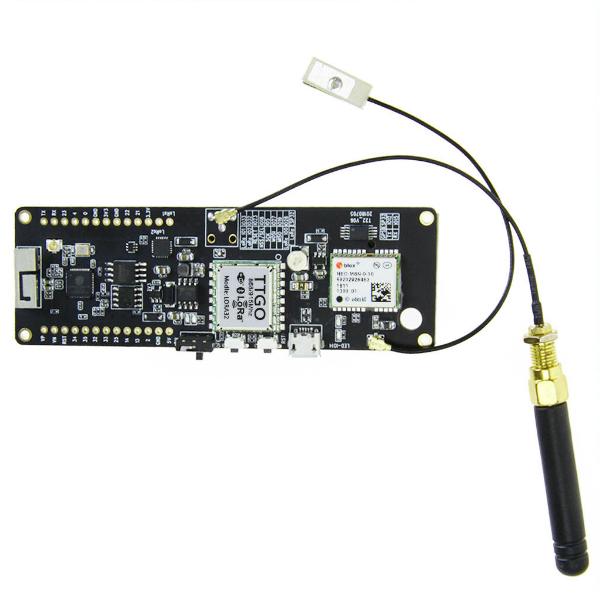 WEMOS-LORA-915 Wemos® TTGO 915MHz ESP32 Wireless Bluetooth NEO-M8N GPS  Module with LORA and 18650 Battery Holder