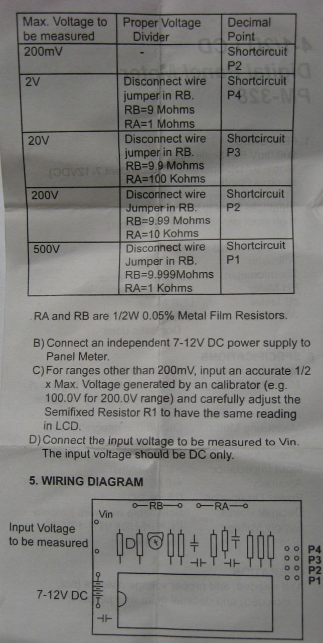 Pm 328 4 1 2 Lcd Digital Panel Meter Wiring Diagram