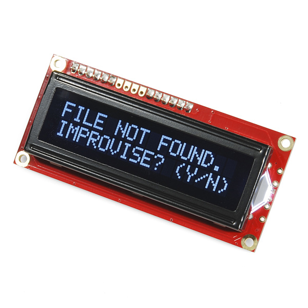 ALPHANUMERIC LCD DISPLAY 16 2 - Picaxe