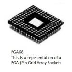 PGA84 84 Pins Solder Tail Pin Grid Array Socket