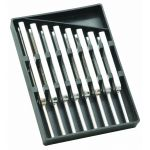 "PH0738C Tuning Forks Set of 8 Steel supplied in 6.5"" x 4.5"" Plastic case"