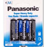 30-448 AA Size Panasonic Heavy Duty Battery Pkg/4