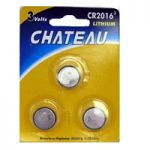 CR2016-3 Lithium 2016 Coin Cell 3V - Pkg of 3