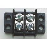 "13-1402 30 AMP Dual Row Terminal Block (.375""c.s.) - 2 Poles"