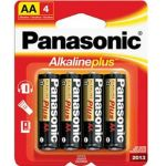 30-444 Size AA Panasonic Alkaline Battery Pkg/4