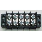 "13-1405 30 AMP Dual Row Terminal Block (.375""c.s.) - 5 Poles"