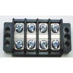 "13-1504 30 AMP Dual  Row Terminal Blocks (.437""c.s.) - 4 Poles"