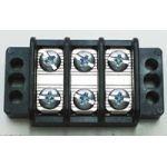 "13-1703 75 AMP Dual Row Terminal Block (.687""c.s.) - 3 Poles"