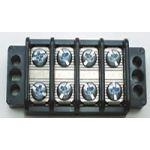 "13-1704 75 AMP Dual Row Terminal Block (.687""c.s.) - 4 Poles"