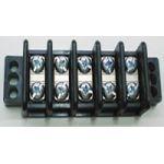 "13-1705 75 AMP Dual Row Terminal Block (.687""c.s.) - 5 Poles"