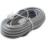 70-0148 Silver 23 Foot Modular Single Line Cord - 6 x 6