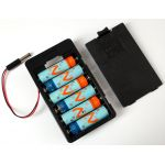 248 Battery Holder 6 x AA with 5.5mm/2.1mm plug