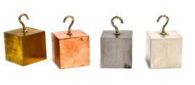 "PH10108PCB Density Blocks- Set of 4 - Aluminum, Brass, Copper, Steel. 1.25"""