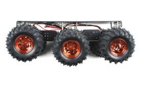ROB-11056 Wild Thumper 6WD Chassis - Black (34:1 gear ratio)