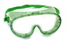 G103 Basic Green Safety Goggles - Vented with adjustable Elastic strap