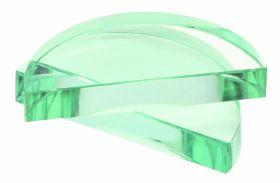 "PH0570C 3.5"" Semi Circular Prisma Glass Block ( 90mm x 16mm)"