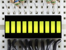 1923-ADA 10 Segment Light Bar Graph LED Display - Yellow-Green