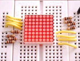 454 Miniature 8x8 Red LED Matrix - BL-M07C881UR-11
