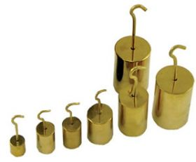 7-2500-10 Nickel Plated Brass Hooked Weight 500g