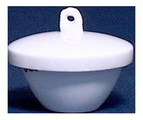 7-315-3 Low Form Procelain Crucible with Lid 50mL