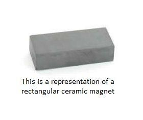 CMRC30 Rectangle Ceramic Magnet 30 x 20 x 6mm