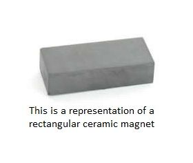 CMRC42 Rectangle Ceramic Magnet 40 x 25 x 10mm