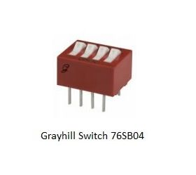 76SB04 Grayhill 4 Position DIP Switch