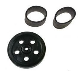 GM10W-Black Black Wheel with black traction bands
