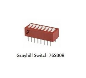 76SB08 Grayhill 8 Position DIP Switch