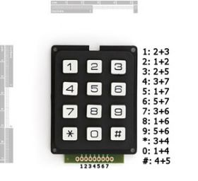 COM-08653 Keypad - 12 Button