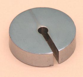 P-150-10 Slotted Weights 100gm Steel N.P.
