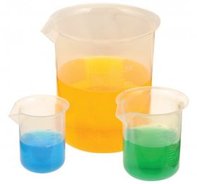 CH0137GSET Beaker Set - Polypropylene - Set of 6 - 50, 100, 250, 500, 1000, 2000ml