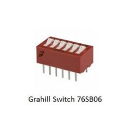 76SB06 Grayhill 6 Position DIP Switch