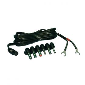 48-400 6' Power Cable with Assorted Coax Plugs