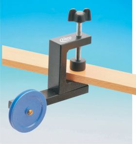 PH0296B EISCO Pulley Bench Clamp Fitting, Nylon Ball Bearing