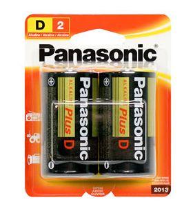 30-439 Size D Panasonic Alkaline Battery Pkg/2