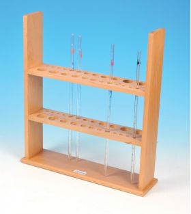 CH0590A Wooden Pipette Stand, 24 Pipettes, Assorted Sizes