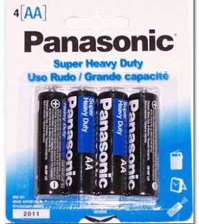 30-448 AA Size Panasonic Heavy Duty Battery Pkg/4