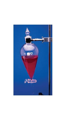 7-990500 Conical Bomex Glass Separatory Funnel - 500mL